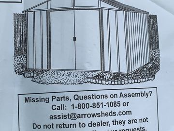 Sell: Aluminum Storage Shed