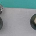 Sell: 18kt White Gold Tahitian Pearl Earrings