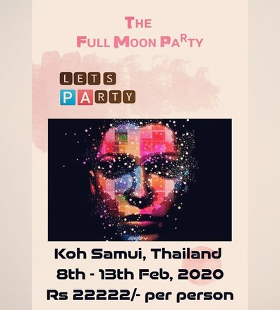Create an event: Full Moon Party