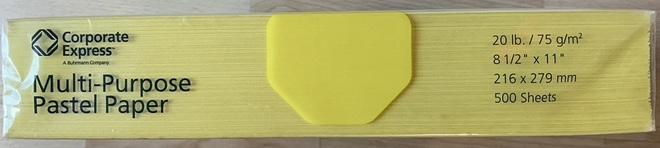 Yellow Letter Size Paper