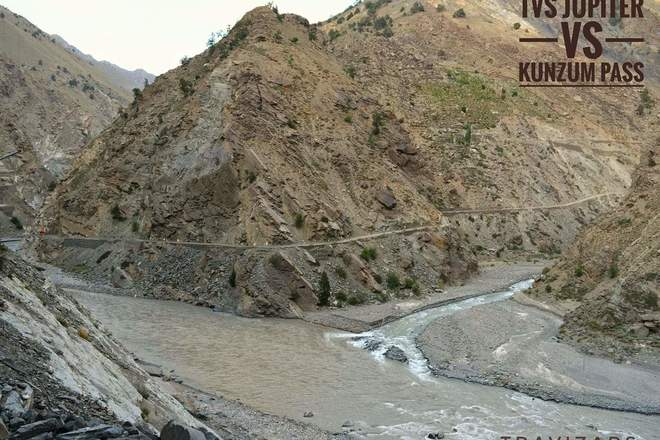 Micro blog: Confluence of Gyamting and Sutlej river