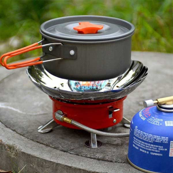 Camping stove windproof