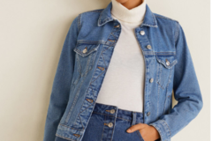Sell: Mango -Woman Blue Solid Denim Jacket