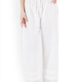 Sell: Castle - Women White Embroidered Straight Palazzos
