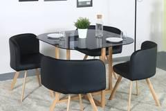 Perfect Homes Atiu Metal 4 Seater Dining Set