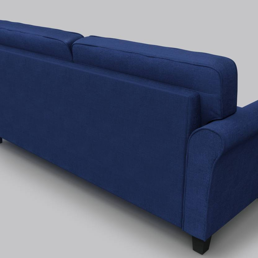 Faroe Fabric 3 + 2 Dark Blue Sofa Set