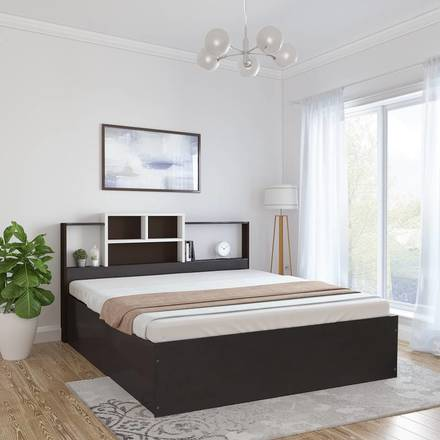 Renting out with online payment: Symphony Engineered Wood Queen Box Bed