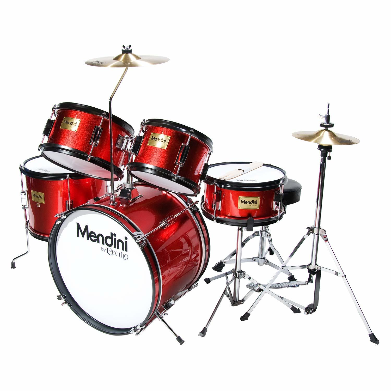 Mendini by Cecilio 16 inch 5-Piece Complete Kids/Junior Drum Set