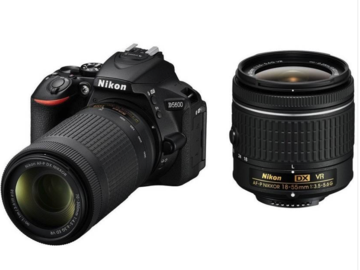 Rent: Nikon D5600 DSLR Camera Body with Dual Lens: AF-P DX Nikkor 18 -