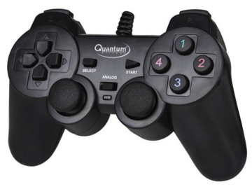 Selling: Quantum QHM 7468-2V USB Gamepad  (Black, For PC)