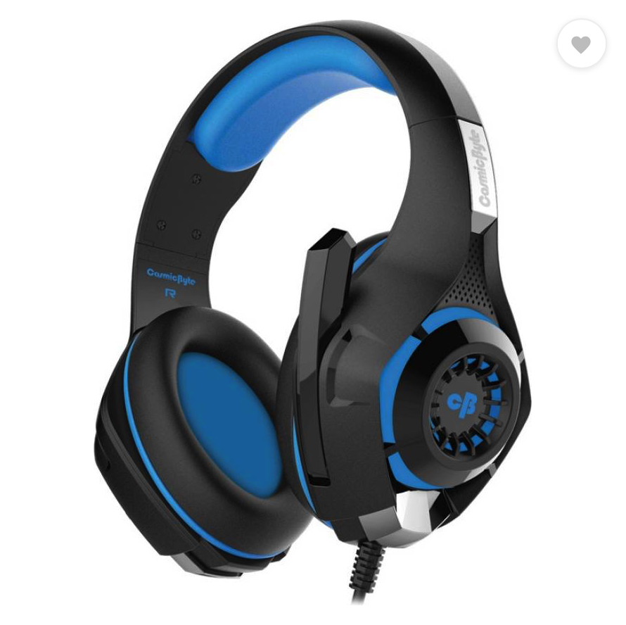 Cosmic Byte GS410 Wired Headset  (Black/Blue, Wired over the head
