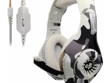Renting out without online payment: Cosmic Byte GS410 Wired Headset  (Camo Grey, Wired over the head)