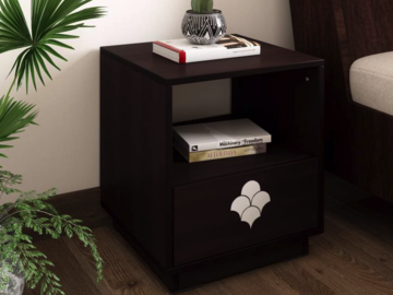Renting:  Flipkart Perfect Homes Liwa Engineered Wood Bedside Table  (Fini