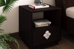 Renting:  Flipkart Perfect Homes Liwa Engineered Wood Bedside Table  (Fini