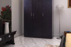 Selling: HomeTown Prime 3 Door Wenge Engineered Wood Almirah  (Finish Colo