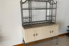 Sell: Cabinet w/Decorative Metal Shelving