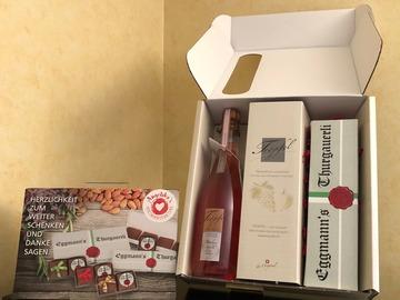 Produkte: Geschenksbox Eggmann's Thurgauerli und Tröpfel