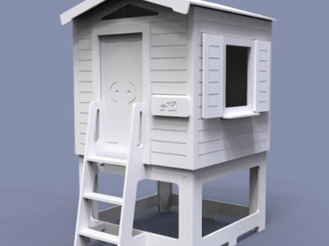 Project without online payment: Spraying Play House 1.2x1x1