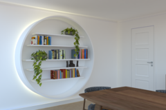 Project without online payment: 1.8m diameter, circular shelving unit