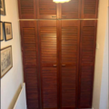 Project without online payment: 2 sets of wardrobe doors - louver doors