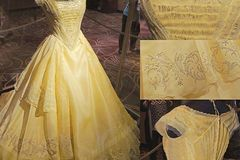 Project without online payment: Beauty and The beast Dress