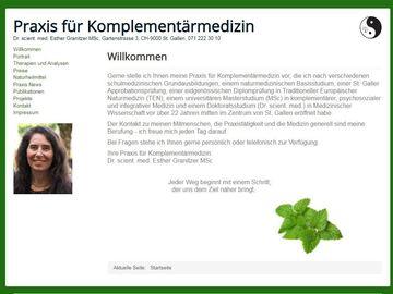 Dienstleistungen: Praxis für Komplementärmedizin Dr. Esther Granitzer