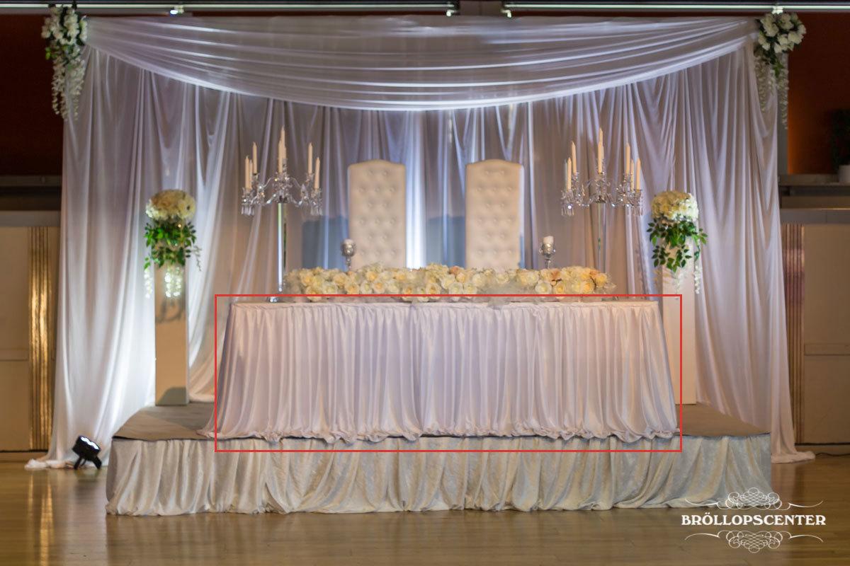 Universal bordspanel plisserad vit upp till 6m