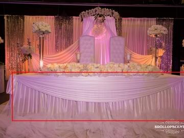 Övrig bokningstyper: Universal bordspanel plisserad vit upp till 6m