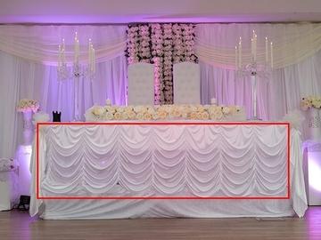 Övrig bokningstyper: Universal bordspanel, båge, vit tyg upp till 5m