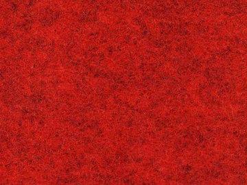 Uthyres: Röd matta – Slät Nålfiltsmatta 4m