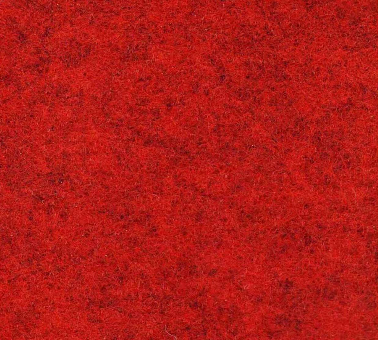 Röd matta – Slät Nålfiltsmatta 4m