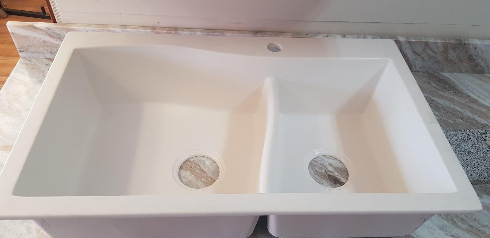 White Granite Sink