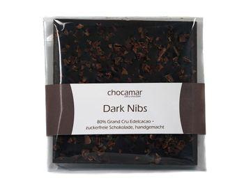 Produkte: Dark Nibs zuckerfreie Schokolade 60g, 100% handgemacht