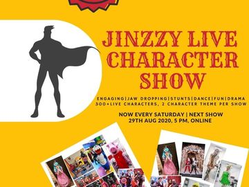 Buy Tickets - Live Character Online Show (Every Weekends)