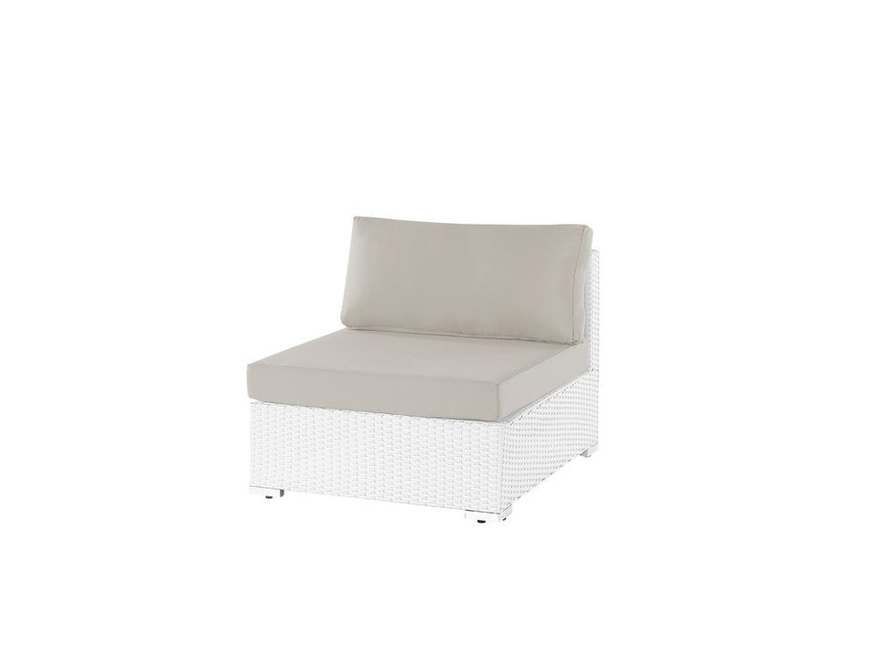 Loungemodul m. ryggstöd vit konstrotting