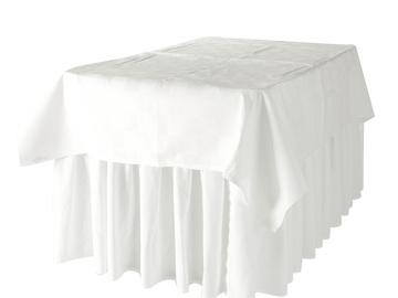 Övrig bokningstyper: Kjol rektangulära bord 183x76cm vit