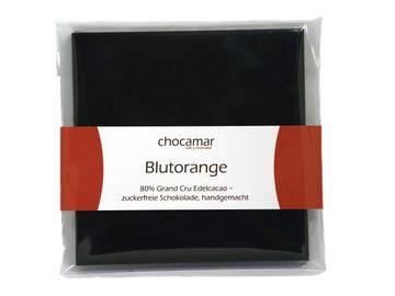 Produkte: Blutorange zuckerfreie Schokolade 60g, 100% handgemacht