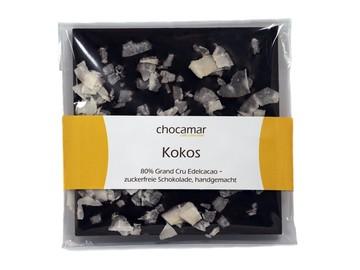 Produkte: Kokos zuckerfreie Schokolade 60g, 100% handgemacht