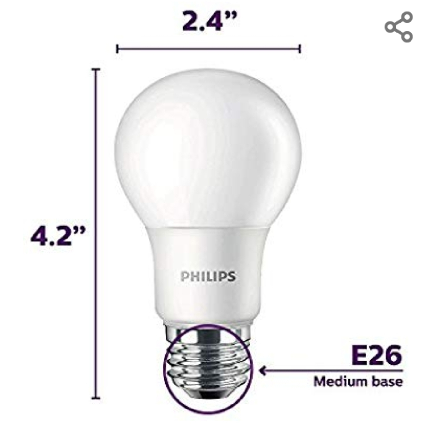 LED Light Bulb (4 pack)