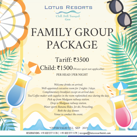 Hosting: Lotus Eco Beach Resort, Benaulim Beach Goa!!