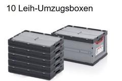 Leih-Umzugsboxen: Set mit 10 Leih-Umzugsboxen (Abholung an einer von 500 Stationen)