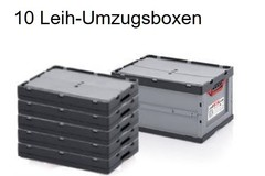 Leih-Umzugsboxen: Set mit 10 Leih-Umzugsboxen (Lieferung&Rücksendung CH-weit)