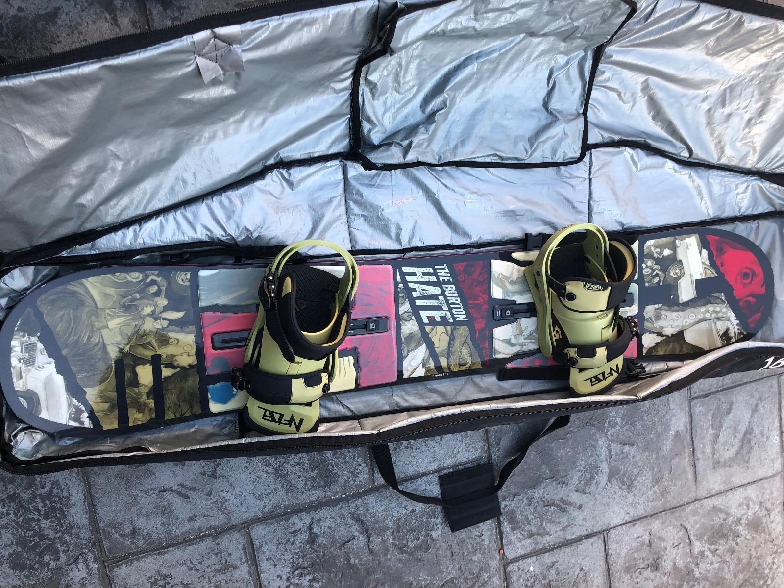 Burton Hate 152 with bindings and bag