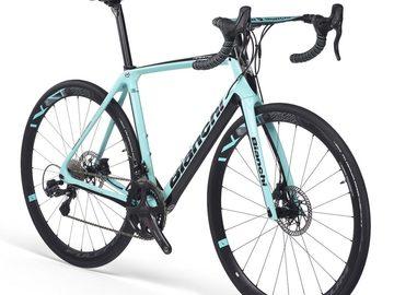Affitto con pagamento online: Noleggio Bici BIANCHI INFINITO CVDisc Ultegra Di2 2020 - Bellagio