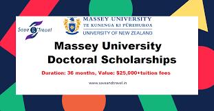 Зарлал: Massey University PhD funding 2020
