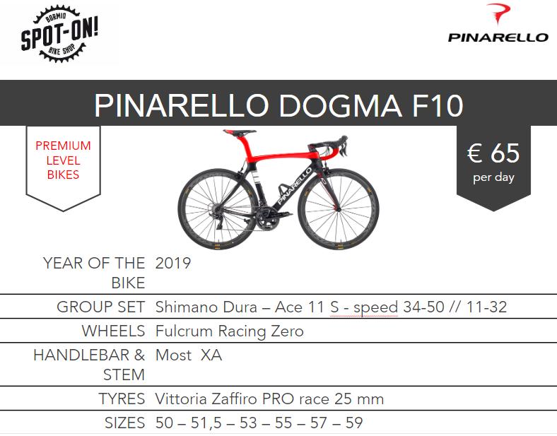 PINARELLO DOGMA F10 - Noleggio bici da corsa Bormio