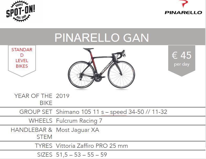 PINARELLO GAN- Noleggio bici da corsa Bormio