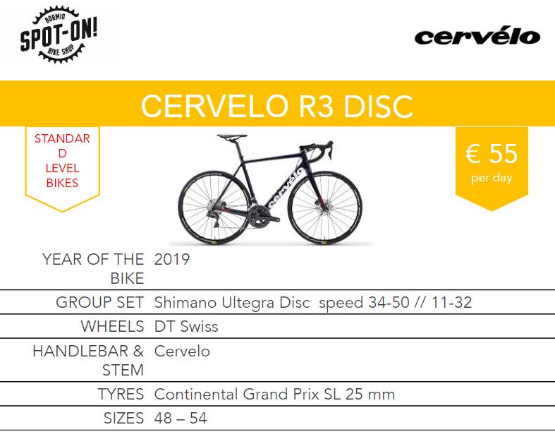 CERVELO R3 DISC - Noleggio bici da corsa Bormio