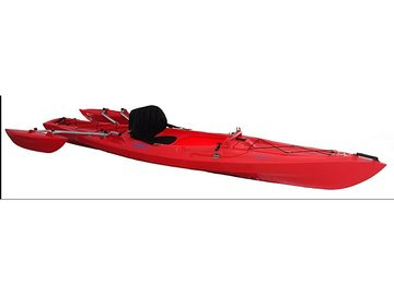 Renting out without online payment: Tri-Kayak XS-1 Red Recreational Kayak