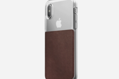 Online checkout and shipping: iPhone X Clear/Leather Case